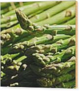 Yummy Asparagus Wood Print by Connie Cooper-Edwards