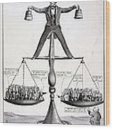 Zachary Taylor, Political Cartoon Wood Print by Everett