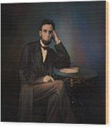 Abraham Lincoln Wood Print by Andrzej Szczerski