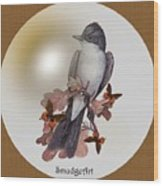 Eastern Kingbird Wood Print by Madeline  Allen - SmudgeArt