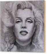 Marilyn Wood Print by Jack Skinner