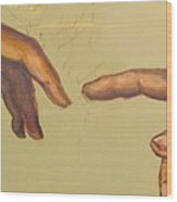 Michelangelos Creation Of Adam 1510 Wood Print by Eric Dee