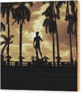 Replica Of The Michelangelo Statue At Ringling Museum Sarasota Florida Wood Print by Mal Bray