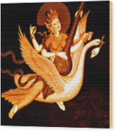 Saraswati 4 Wood Print by Lanjee Chee