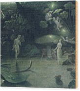 Scene From 'a Midsummer Night's Dream Wood Print by Francis Danby