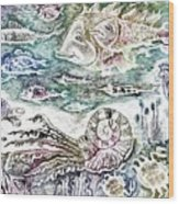Sea World Wood Print by Milen Litchkov