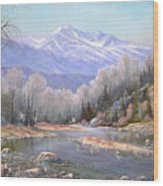 060521-3624  Spring In The Rockies Wood Print by Kenneth Shanika