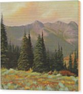 060815-1224  Late Summer Flowers Wood Print by Kenneth Shanika
