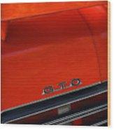 1969 Pontiac Gto The Judge Wood Print by Gordon Dean II