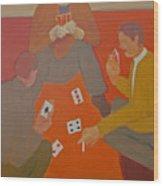 5 Card Stud Wood Print by Renee Kahn