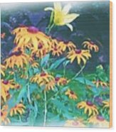 A Lily In The Field Wood Print by Patricia Griffin Brett