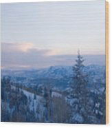 A View Out Over The Mountains Of Utah Wood Print by Taylor S. Kennedy