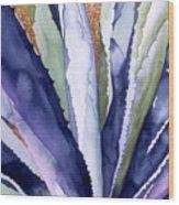 Agave 3 Wood Print by Eunice Olson