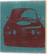 Alfa Romeo Gtv Wood Print by Naxart Studio