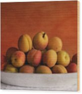 Apricot Delight Wood Print by Priska Wettstein