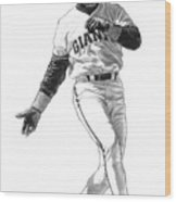 Barry Bonds Wood Print by Harry West