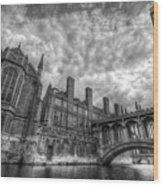 Bridge Of Sighs - Cambridge Wood Print by Yhun Suarez