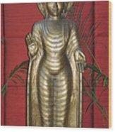 Buddha 1 Wood Print by Vijay Sharon Govender