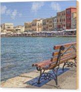 Chania - Crete Wood Print by Joana Kruse