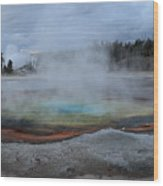 Chromatic Pool Yellowstone Wood Print by Pierre Leclerc Photography