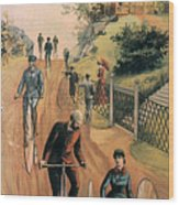 Columbia Bicycles Poster Wood Print by Granger