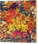 Detail Of Fall Wood Print by Kimberly Simon