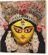 Goddess Durga Wood Print by Chandrima Dhar