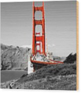 Golden Gate Wood Print by Greg Fortier