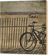 Gone Swimming Wood Print by Evelina Kremsdorf