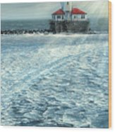 Harbor Light Wood Print by Doug Kreuger