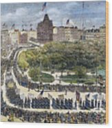Labor Day Parade, 1882 Wood Print by Granger