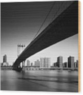 Manhattan Bridge Wood Print by Nina Papiorek