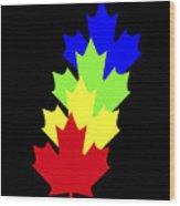 Maple Leaves Wood Print by Asbjorn Lonvig