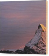 Matterhorn At Sunset Wood Print by Jetson Nguyen