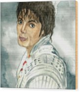 Michael Jackson - Captain Eo Wood Print by Nicole Wang