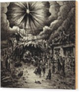 Night In Bethlehem Wood Print by Rachel Christine Nowicki