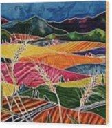 Palouse Fields Wood Print by Carolyn Doe