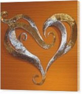 Passion Hearts Wood Print by Diane Snider