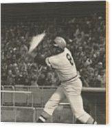 Pittsburgh Pirate Willie Stargell Batting At Dodger Stadium  Wood Print by Jamie Baldwin