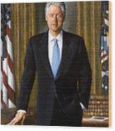 President Bill Clinton Wood Print by War Is Hell Store