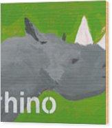 Rhinoceros Wood Print by Laurie Breen