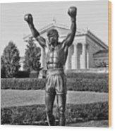 Rocky Statue - Philadelphia Wood Print by Brendan Reals