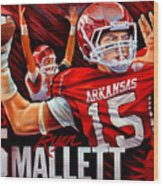 Ryan Mallett Wood Print by Jim Wetherington