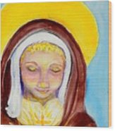 St. Clare Of Assisi Wood Print by Susan  Clark