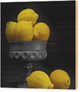 Still Life With Lemons Wood Print by Tom Mc Nemar