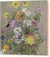 Summer Flowers Wood Print by John Gubbins