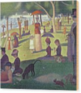 Sunday Afternoon On The Island Of La Grande Jatte Wood Print by Georges Pierre Seurat
