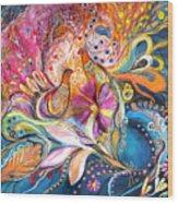 The Flowers Of Sea Wood Print by Elena Kotliarker