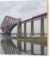 The Forth - Scotland Wood Print by Mike McGlothlen