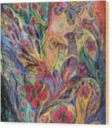The Olive Tree Wood Print by Elena Kotliarker